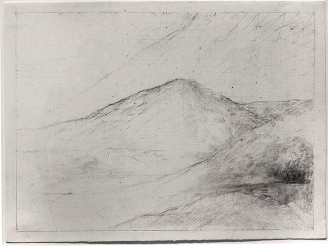 "Jake Berthot, ""Untitled"" (2013), graphite on paper"