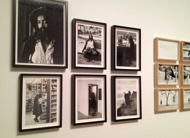 """Installation shot of various photos representing """"The King of Solana Beach,"""" created and performed by Eleanor Antin (1972-75). (All photos by author for Hyperallergic)"""