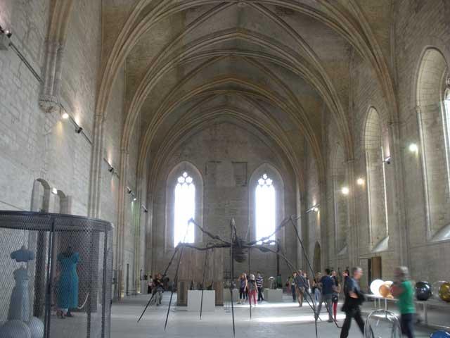 "Installation view, ""Les Papesses"" at the Palais des Papes"