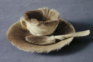 "Meret Oppenheim, ""Object (Le Déjeuner en fourrure)"" (1936), MoMA, New York (photo via Wikipedia)"