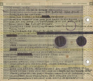 Mohamedi, ink on diary page (c. 1970s) (click to enlarge)