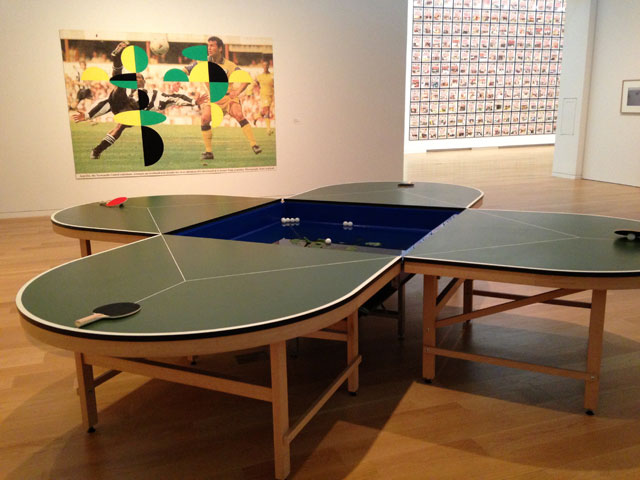 Gabriel Orozco's ping-pong table