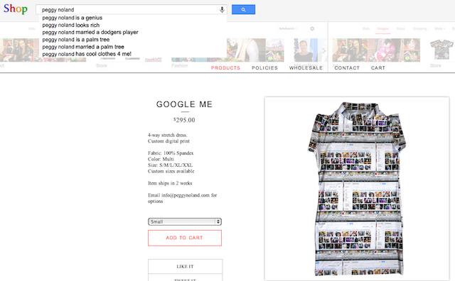 """Peggy Noland, """"Google Me"""" dress."""