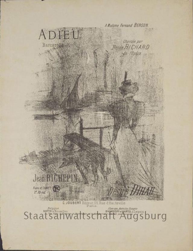 """Henri de Toulouse-Lautrec's """"Adieu (A Madame Fernand Berson)"""""""