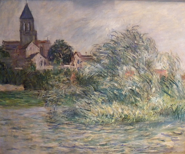 """A work by Claude Monet, """"L' Eglise de Vetheuil,"""" is one of the works in question."""