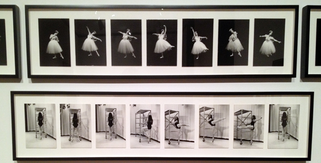 """Installation shot of """"Caught in the Act"""" (1973), by Eleanor Antin (All photos by author for Hyperallergic)"""