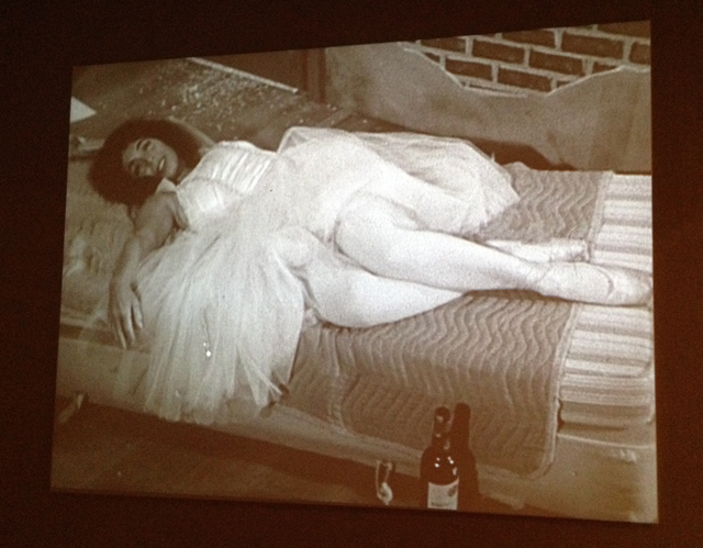 """Film still of """"From the Archives of Modern Art"""" (1987) by Eleanor Antin. (All photos by author for Hyperallergic)"""