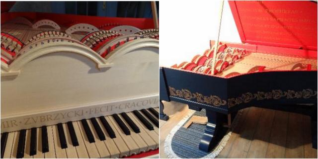 The reconstructed Leonardo da Vinci viola organista (via zubrzycki.art.pl)