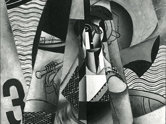 """Jean Metzinger, """"Le Canot, En Canot (Femme au Canot et a l'Ombrelle), Im Boot"""" (1913) (via Wikimedia)"""