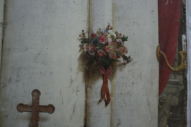 Detail of the Daguerre diorama (photograph by m_illuminato/Flickr user)