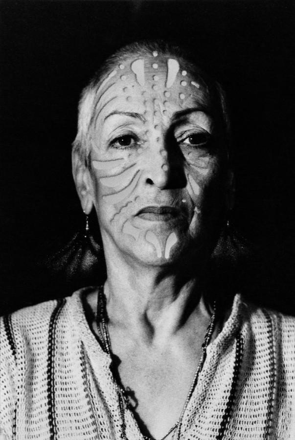 """Meret Oppenheim,  """"Portrait with tattoo"""" (1980), Private Collection, Bern (photo: Heinz Günter Mebusch, Dusseldorf © V BK, Vienna, 2013, photo via O.pl)"""