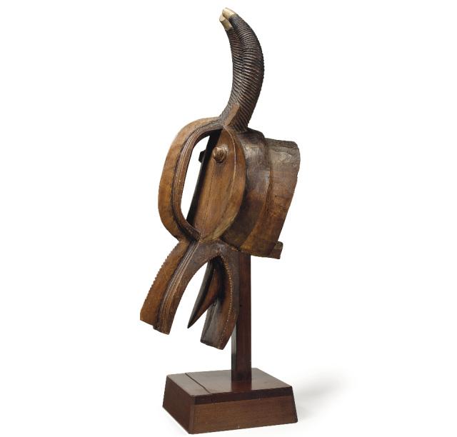 Baule Mask Ivory Coast Wood Height 43 In 109 Cm Base By Artist Kichizo Inagaki 1876 1951 Image Courtesy Christies