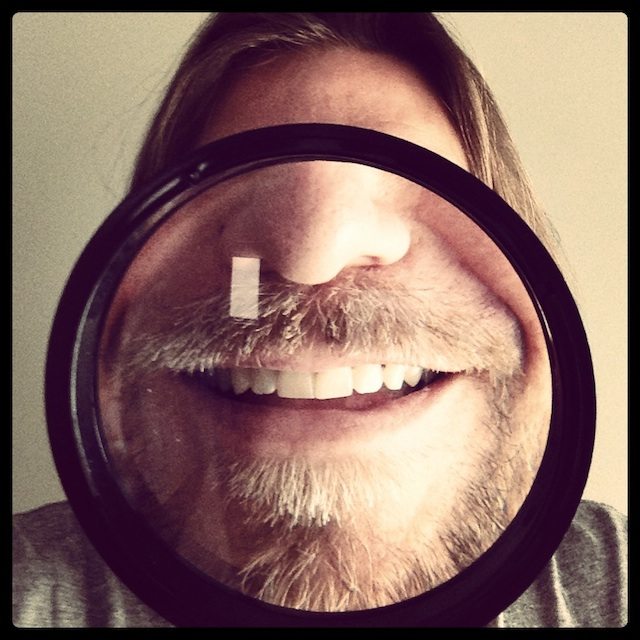 Magnified selfie by Mr. Enrico Varrasso. Submitted to selfies [at] hyperallergic [dot] com.