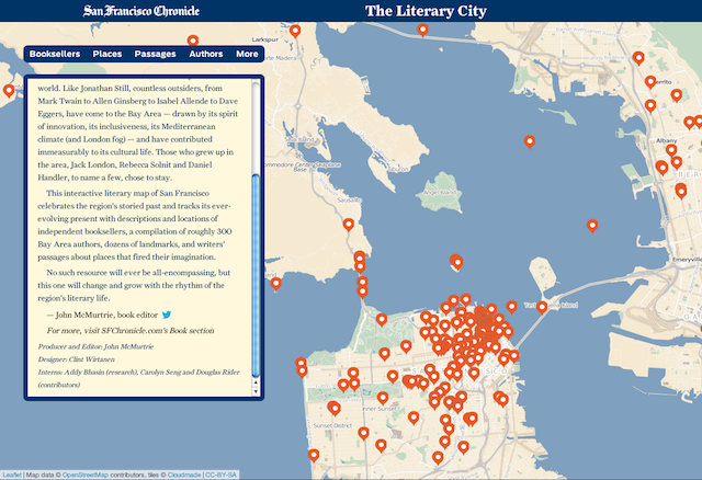 Mapping San Francisco\'s Literary History