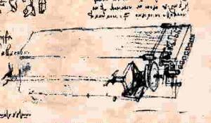 Da Vincis design for the viola organista (via Wikimedia)
