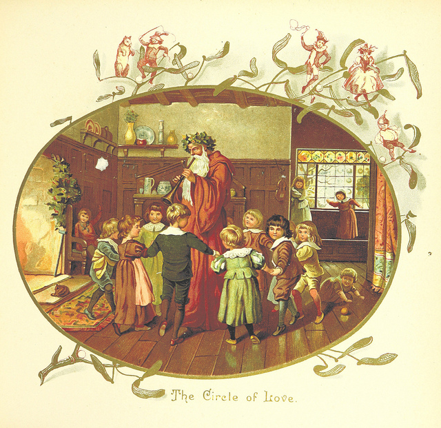 """An image by Eliza F. Manning from """"The Coming of Father Christmas"""", published in 1894."""