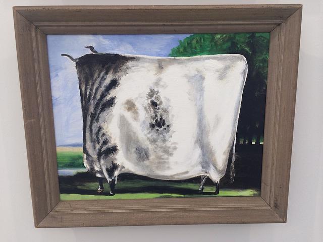 """Alun Williams, """"White Prize Cow"""" (2013)"""