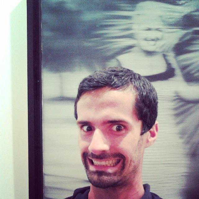 Ben Valentine selfie with Gerhard Richter