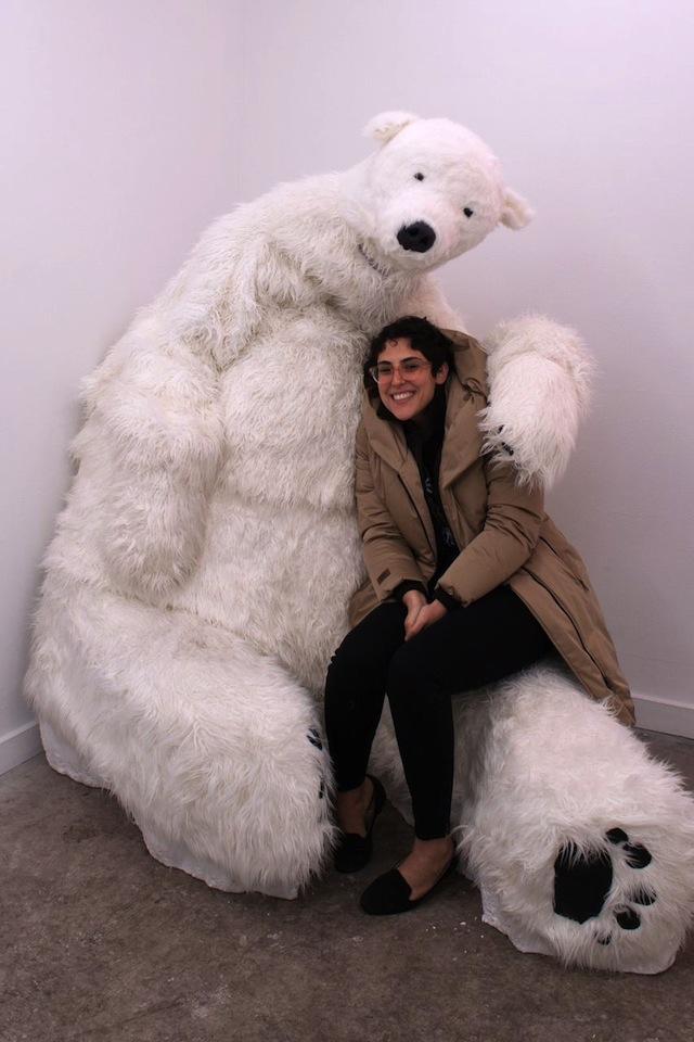 Dana Bassett with Polar Bear. All photographs by Kirk Faber and courtesy of Diego Leclerly.
