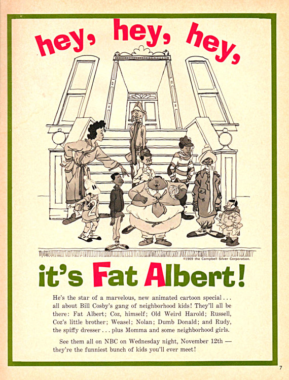 """An ad for """"Fat Albert and the Cosby Kids"""" (via Museum of UnCut Funk)"""