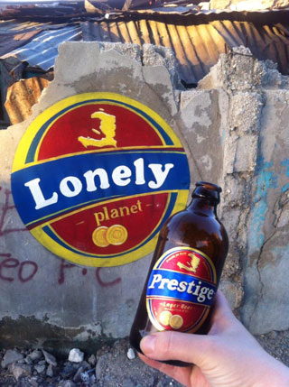 One of Tom Bogaert's beer bottle labels (click to enlarge)