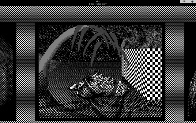 "Screenshot of Peter Burr's ""Fills"" (via plan9channel12.com)"