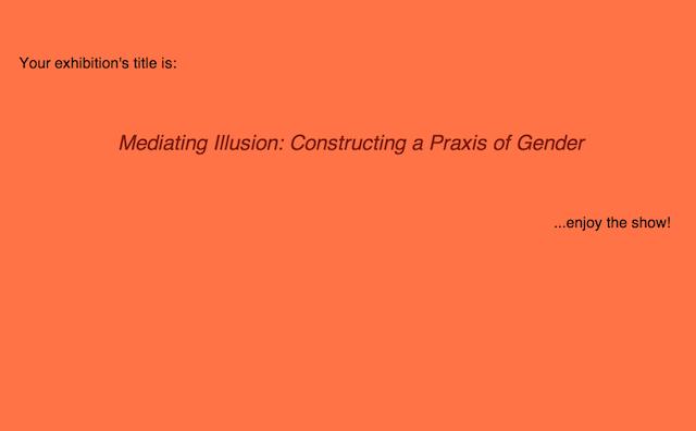 Screenshot of the Random Exhibition Title Generator