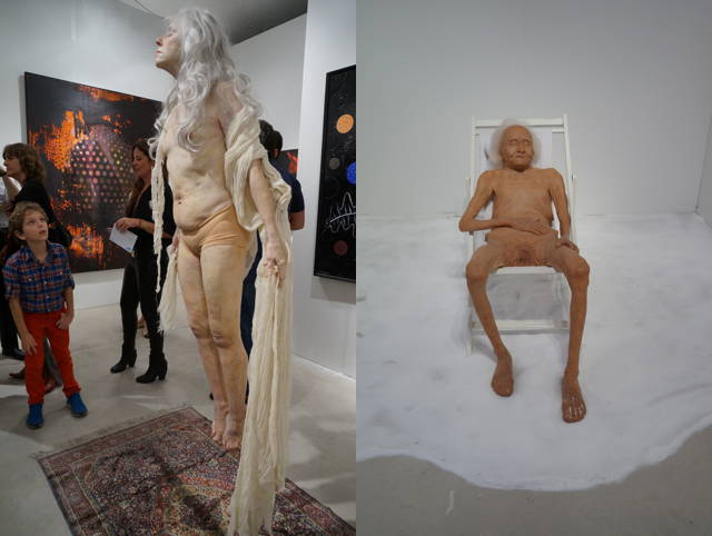 "Left: a work by Marc Sijan; right: Shen Shaomin, ""I Want to Know What Infinity Is"" (2011–12)"