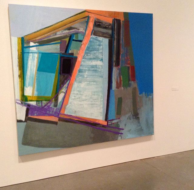 """Amy Sillman, """"I"""" (2008), oil on canvas (all photos by the author for Hyperallergic)"""