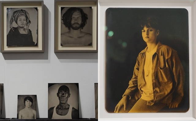 "Left: Keliy Anderson-Staley, photographs from ""[Hyphen]-Americans: Tintype Portraits"" (2005–13); right: Deborah Luster, photograph from ""One Big Self series - Louisiana State Penitentiary portraits"" (2009)"