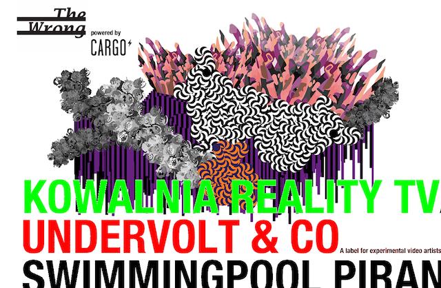 Screenshot of the homepage for The Wrong Digital Art Biennale