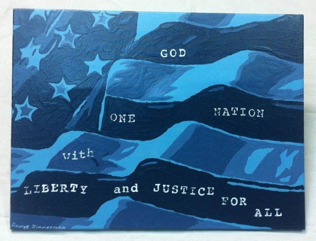 George Zimmerman's untitled painting for sale on eBay (via ebay.com)