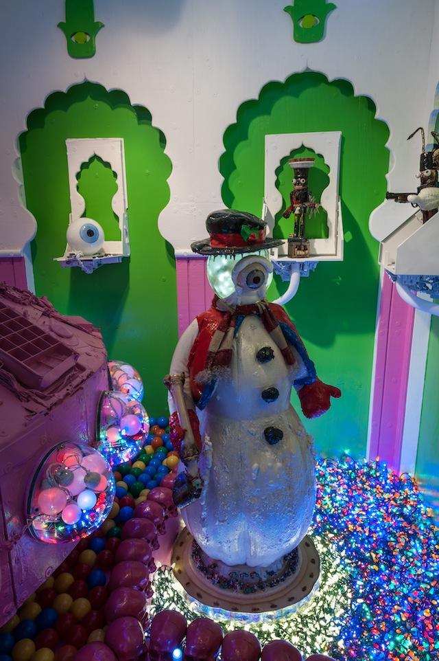 "Kenny Irwin Jr.'s ""Robotmas"" installation at AVAM (photograph by Dan Meyers/courtesy AVAM)"