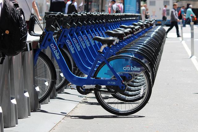 Citi Bikes (photograph by Shinya Suzuki/Flickr user)