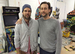 The duo behind Faile: Patrick McNeil and Patrick Miller. (photo by the author for Hyperallergic)