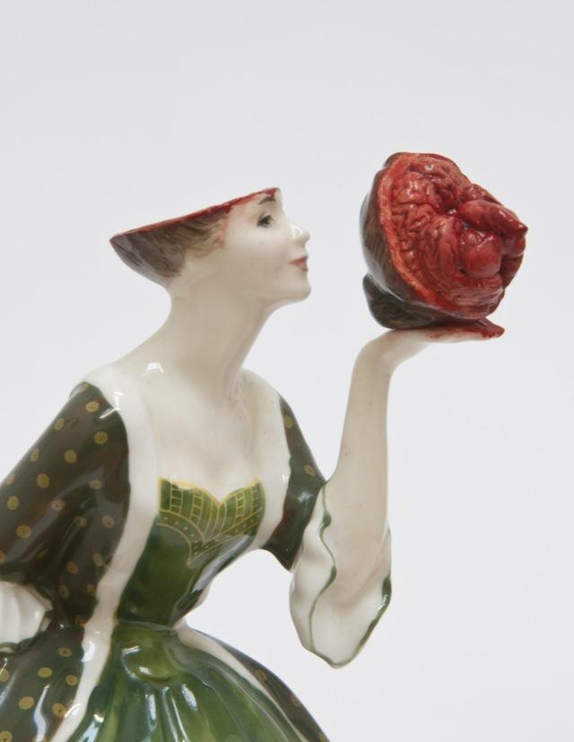 "Jessica Harrison, ""Amanda"" (2013), Found ceramic, epoxy resin putty, enamel paint"