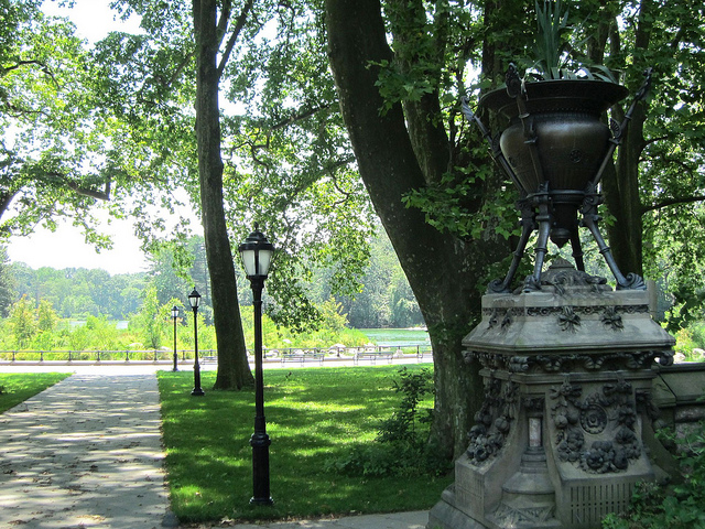 View to the restored Music Island in Prospect Park (photograph by the author)