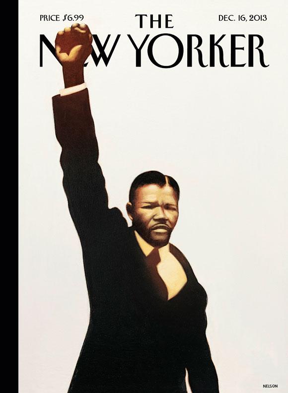 "Kadir Nelson, ""Madiba,"" the cover image for next week's New Yorker (via newyorker.com)"
