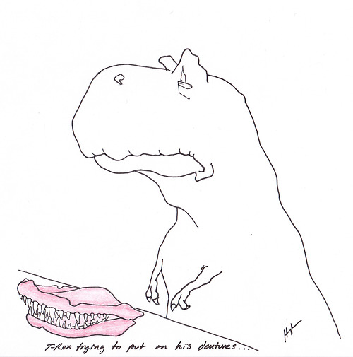 An image from the popular T-Rex Trying blog. Image CC BY-NC-ND Hugh Murphy.