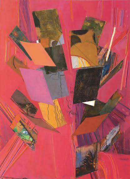 """Sangram Majumdar, """"Tilt"""" (2013), oil on linen, 66 x 48 in (All images courtesy of Steven Harvey Fine Art Projects)."""