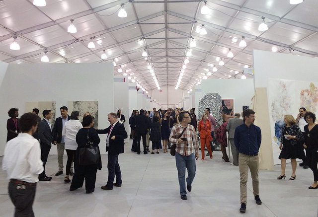 A view of the Untitled fair in Miami Beach, 2013 (all photos by the author for Hyperallergic)