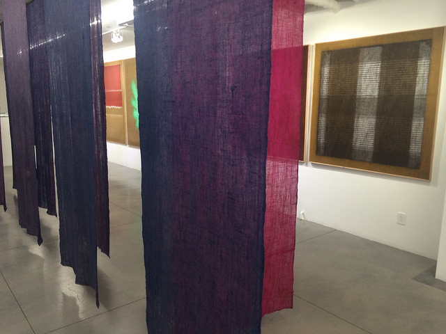 """A view of the """"Transparency"""" exhibition at BOSI Contemporary, featuring the work of Salvatore Emblema."""
