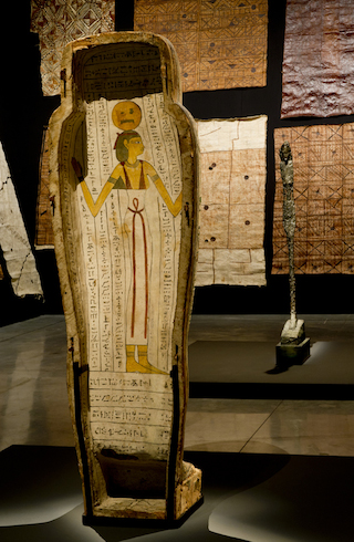 """Egyptian sarcophagus """"Coffin of Itnedjes"""" (750-525 BC)"""