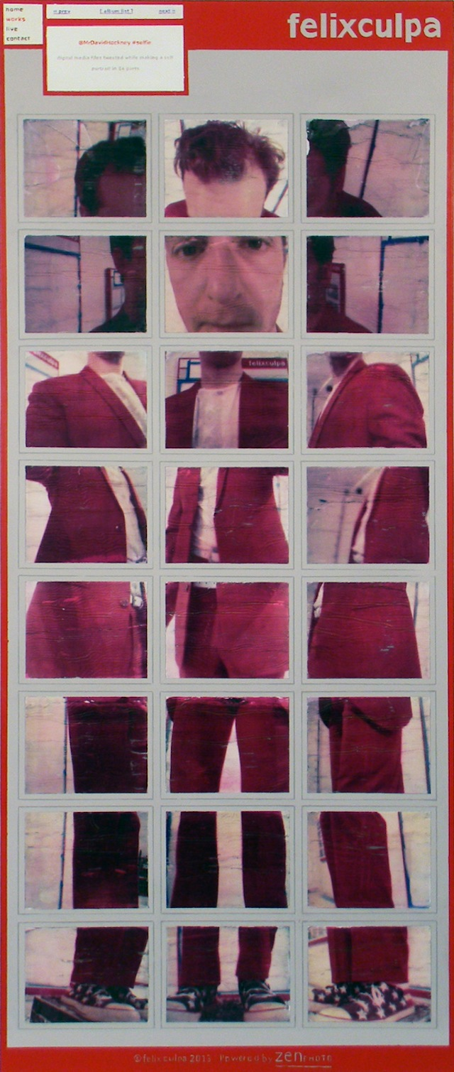 "Felix Culpa, ""@MrDavidHockney Selfie"" (2014)"