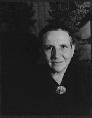 """Carl Van Vechten, """"Portrait of Gertrude Stein"""" (1934) (via loc.gov)"""