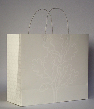 "Imin Yeh, ""Paper Bag Project"" (2013), handmade paper bag (image via asianart.org)"