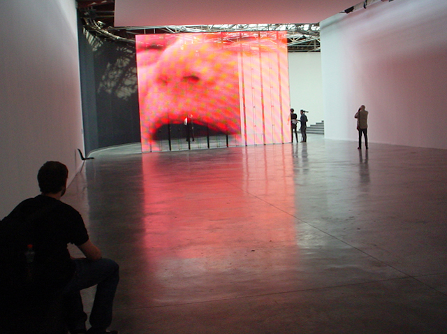 Installation photo taken by the writer during the Philippe Parreno exposition10