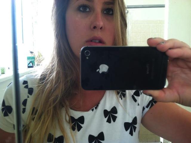 Jenny Sharaf's bathroom selfie