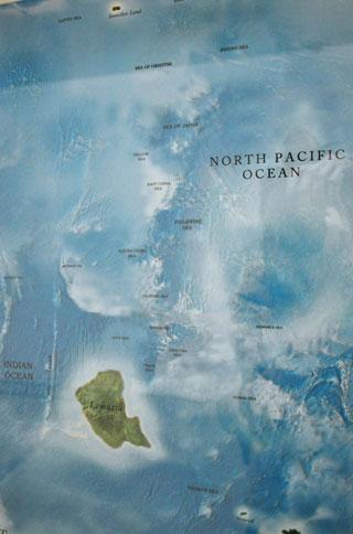 "Agnieszka Kurant, ""Map of Phantom Islands"" (detail) (2011) (click to enlarge)"