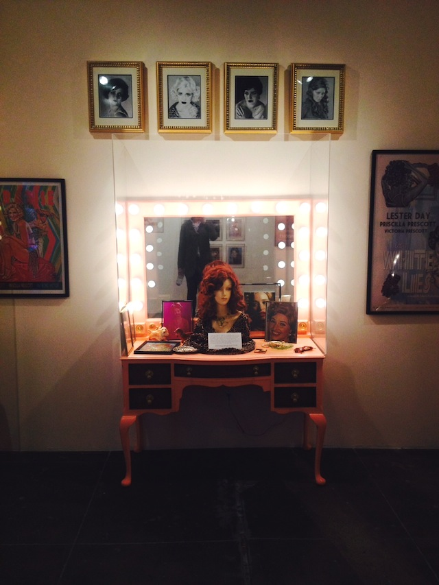 "Lenae Day, ""Priscilla Prescott Vanity"" (2014) (photo by the author for Hyperallergic)"